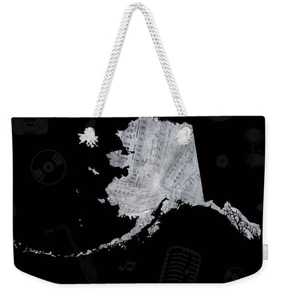 Alaska Map Music Notes 2 Weekender Tote Bag
