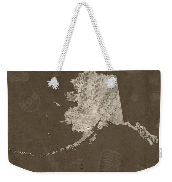 Alaska Map Music Notes 3 Weekender Tote Bag