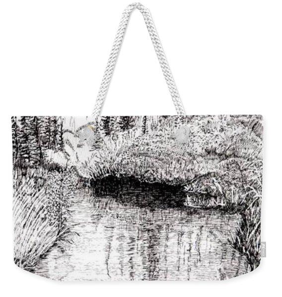 Alaska Pond Weekender Tote Bag
