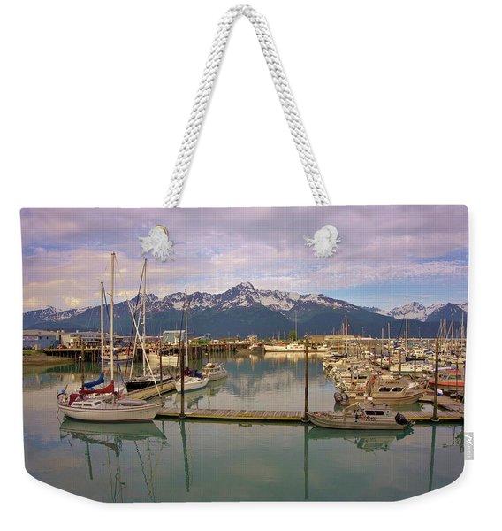 Alaskan Harbor Weekender Tote Bag