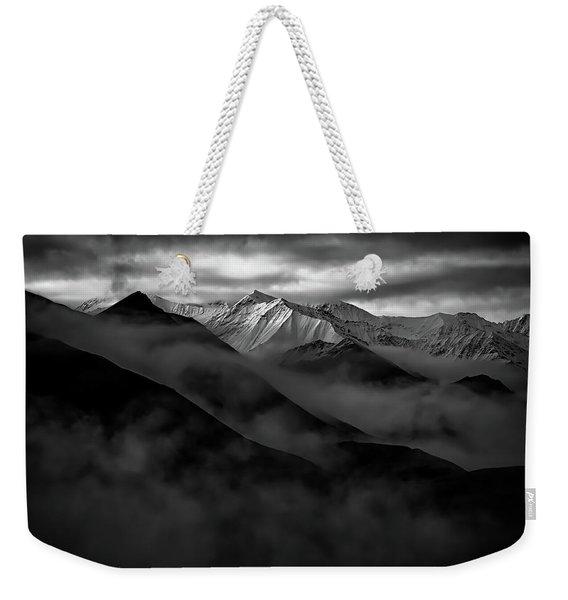 Alaskan Peak In The Shadows Weekender Tote Bag