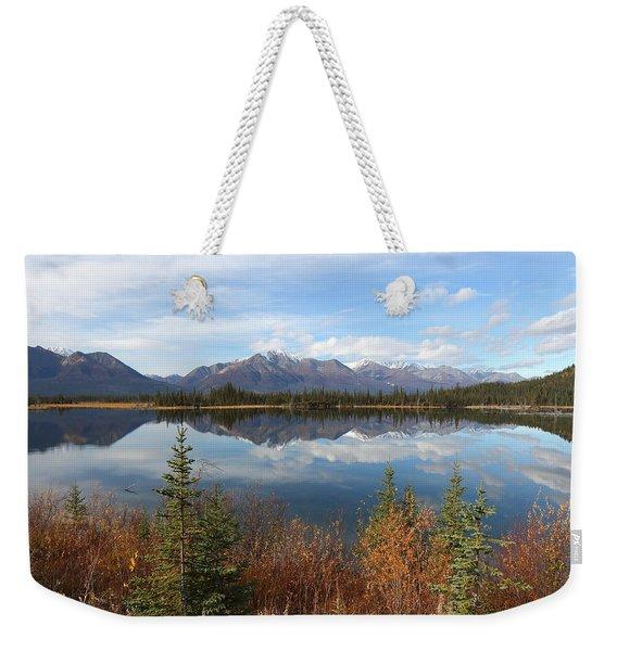 Reflections At Alaska's Mentasta Lake Weekender Tote Bag