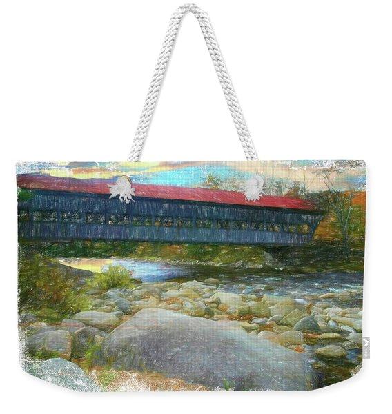 Albany Covered Bridge Nh. Weekender Tote Bag