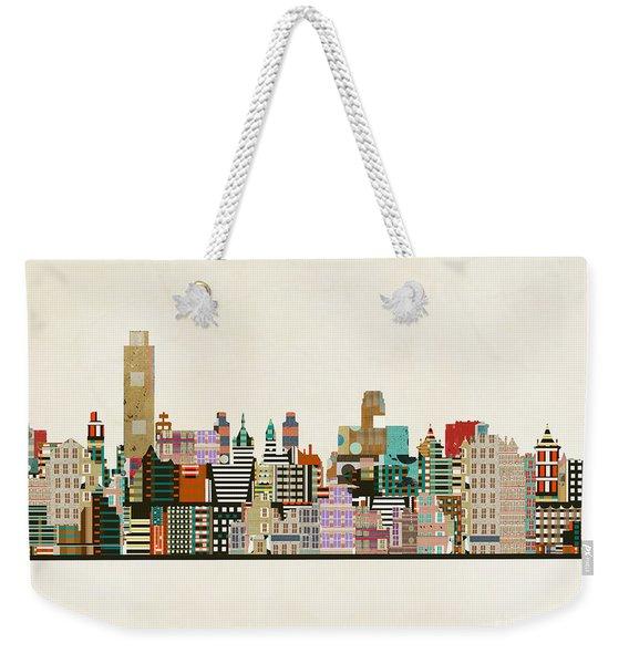 Albany New York Skyline Weekender Tote Bag