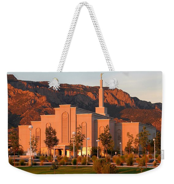 Albuquerque Lds Temple At Sunset 1 Weekender Tote Bag