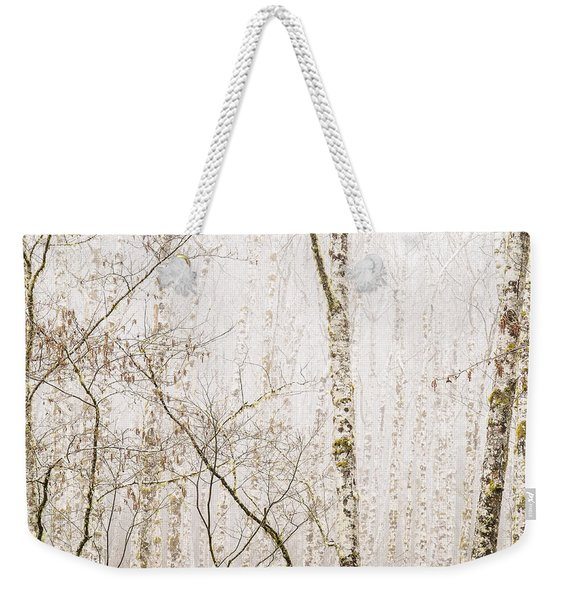 Alders In The Fog Weekender Tote Bag