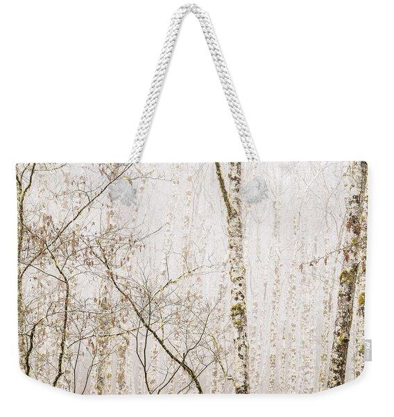 Alders In The Fog Weekender Tote Bag
