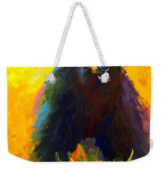 Alert - Black Bear Weekender Tote Bag