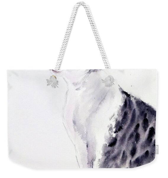 Alert Cat Weekender Tote Bag