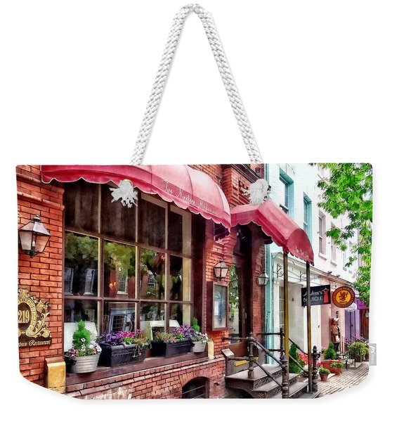 Alexandria Va - Red Awnings On King Street Weekender Tote Bag