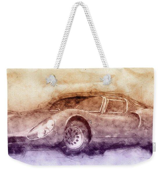 Alfa Romeo 33 Stradale 3 - 1967 - Automotive Art - Car Posters Weekender Tote Bag