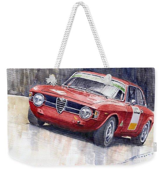 Alfa Romeo Giulie Sprint Gt 1966 Weekender Tote Bag