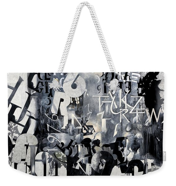 Alfabeto Bianco Nero Weekender Tote Bag