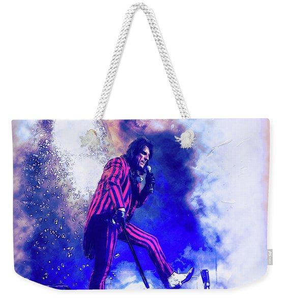 Alice Cooper On Stage Weekender Tote Bag
