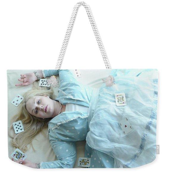 Alice In Draws The Card... Weekender Tote Bag