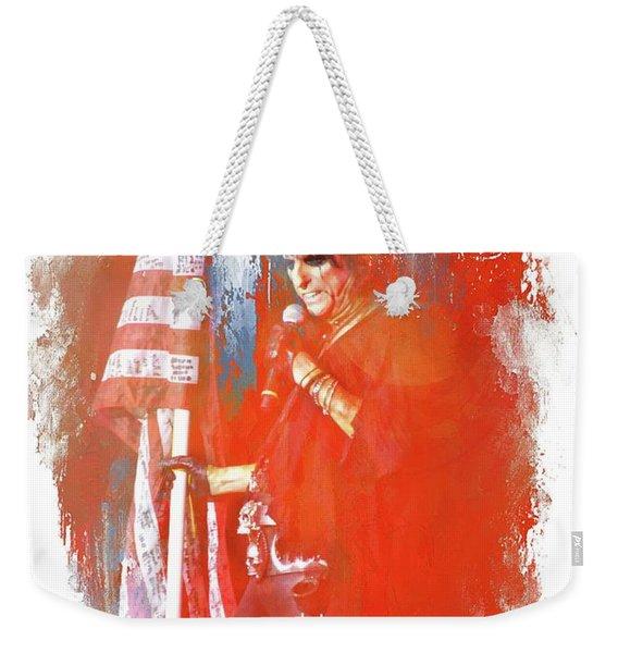 Alice In Patriotic Abstract Weekender Tote Bag