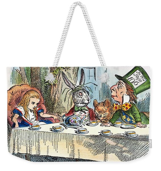 Alices Mad-tea Party, 1865 Weekender Tote Bag