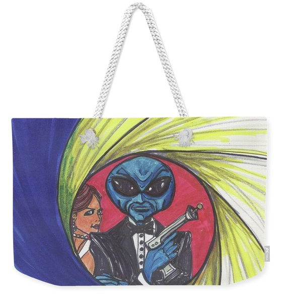 alien Bond Weekender Tote Bag