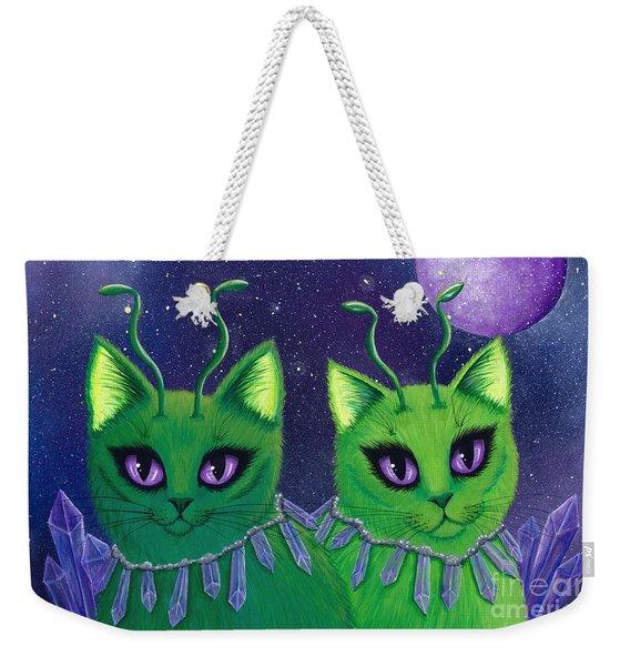 Alien Cats Weekender Tote Bag