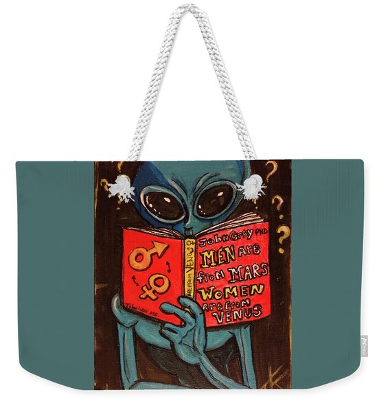 Alien Looking For Answers About Love Weekender Tote Bag