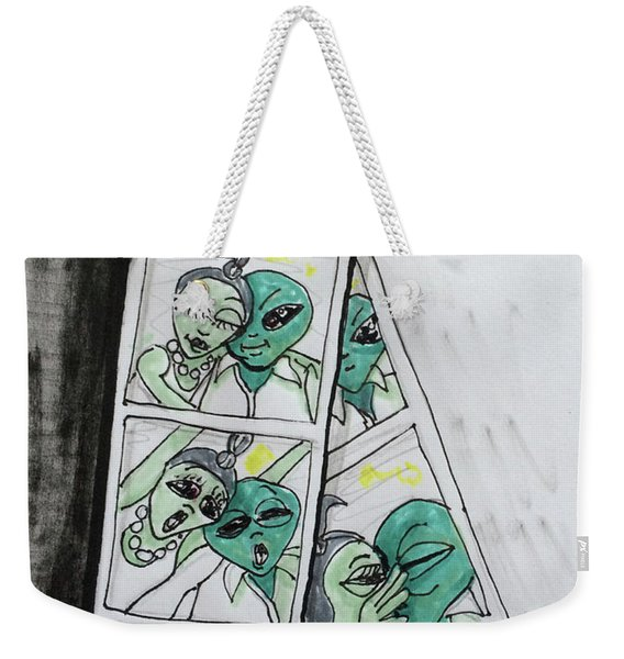 alien Photo Booth  Weekender Tote Bag