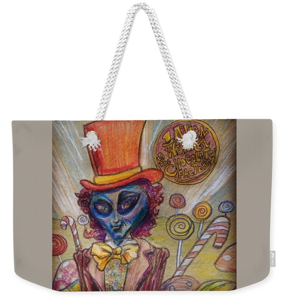 Alien Wonka And The Chocolate Factory Weekender Tote Bag