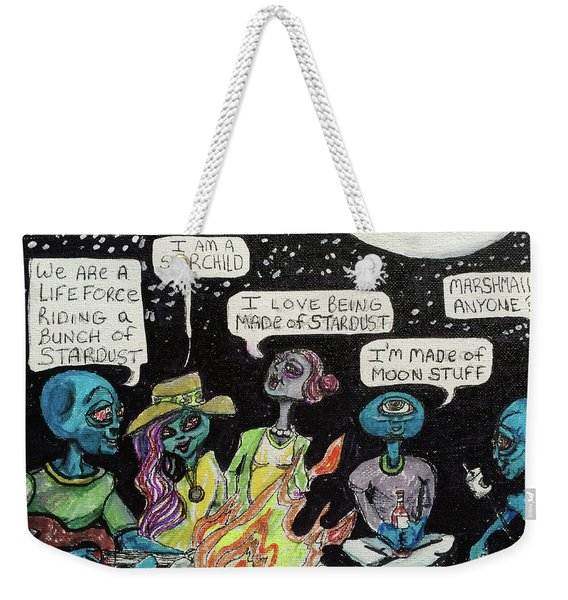 Aliens By The Campfire Weekender Tote Bag