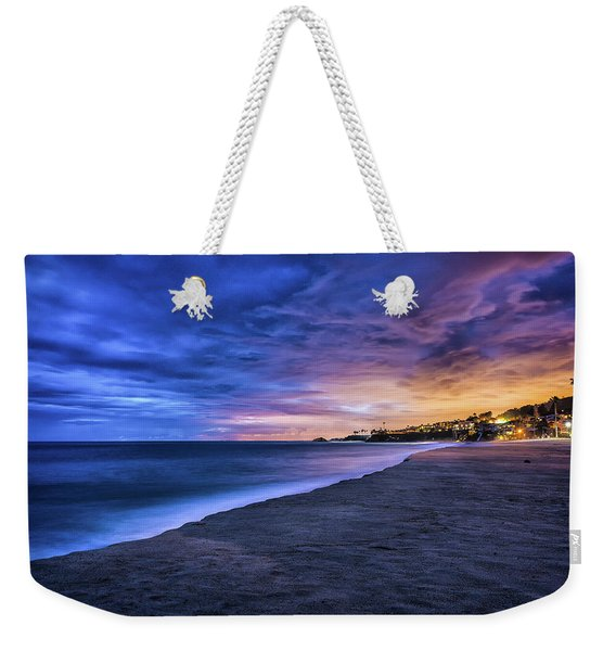 Aliso Beach Lights Weekender Tote Bag