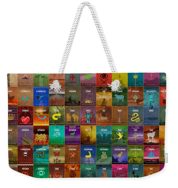 All 66 Books Of The Bible Old And New Testament Minimalist Graphic Design Weekender Tote Bag