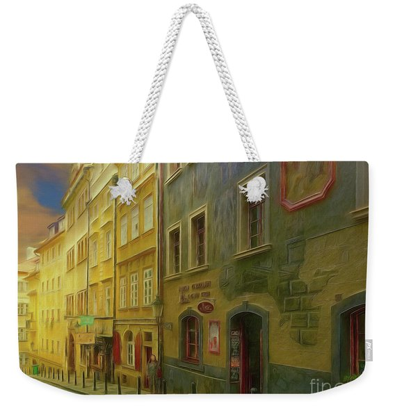 All Downhill From Here - Prague Street Scene Weekender Tote Bag