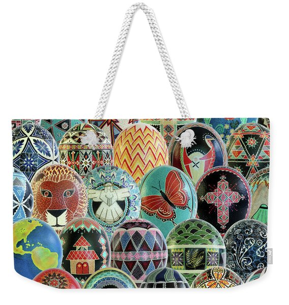 All Ostrich Eggs Collage Weekender Tote Bag