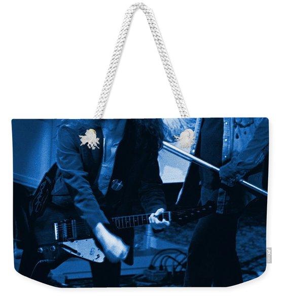 Allen Collins And Ronnie Van Zant Same Old Winterland Blues Weekender Tote Bag