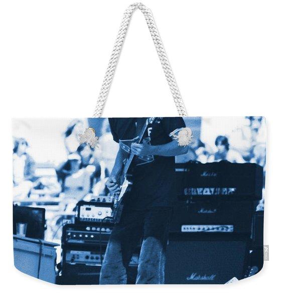 Allen Collins In Blue Oakland 1975 Weekender Tote Bag