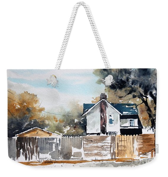 Alley Fences Weekender Tote Bag