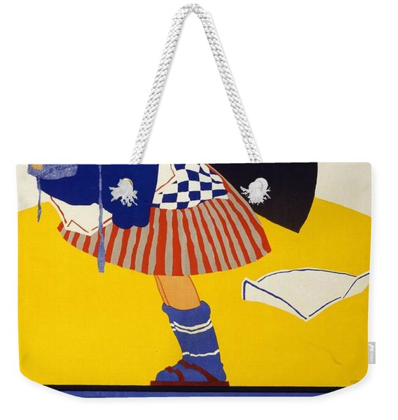 Allgemeine Waschesammlung 1917 - Vintage Clothing Advertising Poster Weekender Tote Bag