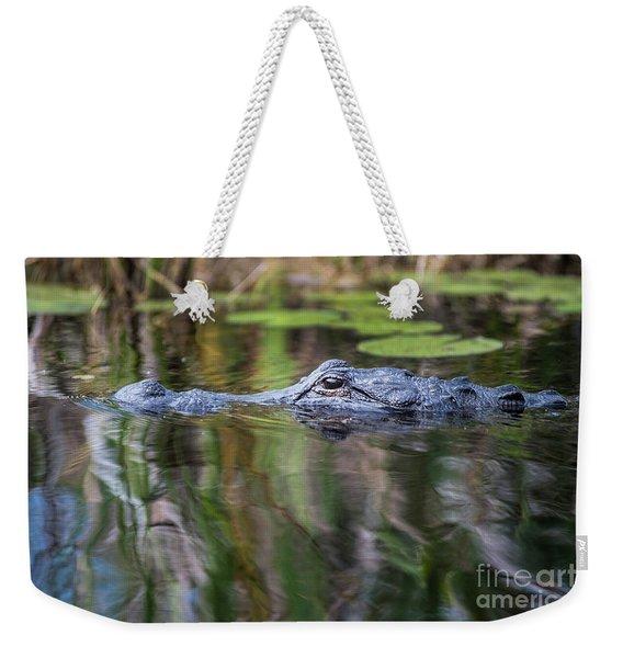 Alligator Swims-1-0599 Weekender Tote Bag