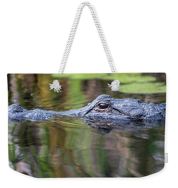 Alligator Swims-2-0599 Weekender Tote Bag