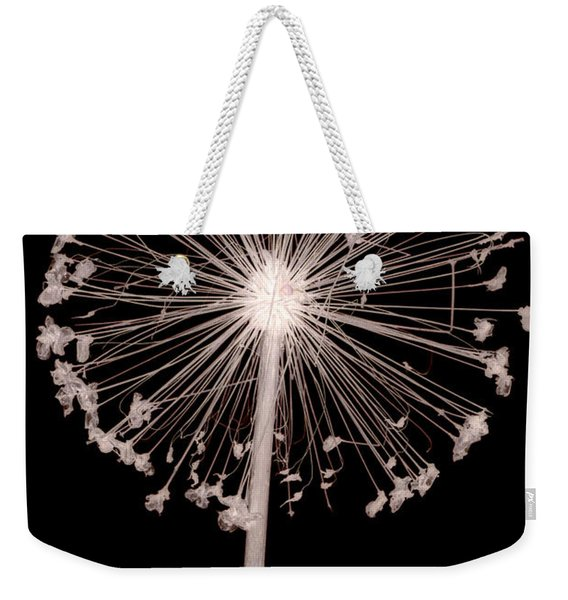 Weekender Tote Bag featuring the photograph Allium Flower by Clayton Bastiani