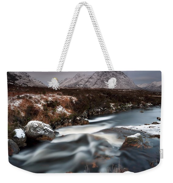 Allt Nan Giubhas And The Peak Of Stob Dearg Weekender Tote Bag