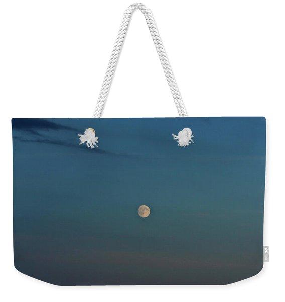 Almost Full Moon Weekender Tote Bag
