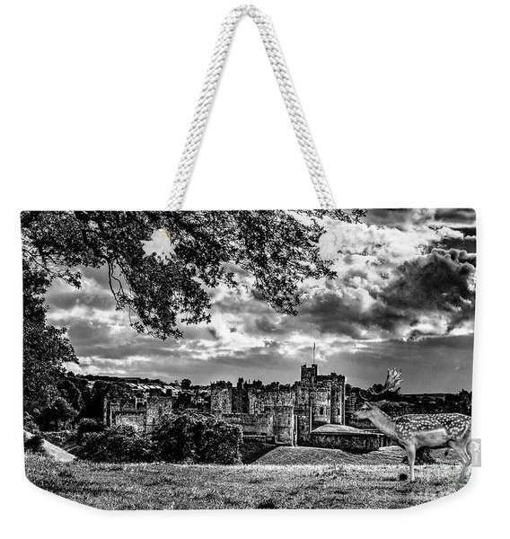 Alnwick Castle And Fallow Deer Weekender Tote Bag
