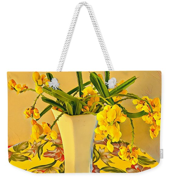 Aloha Bouquet Of The Day - Yellow Wild Flowers Weekender Tote Bag