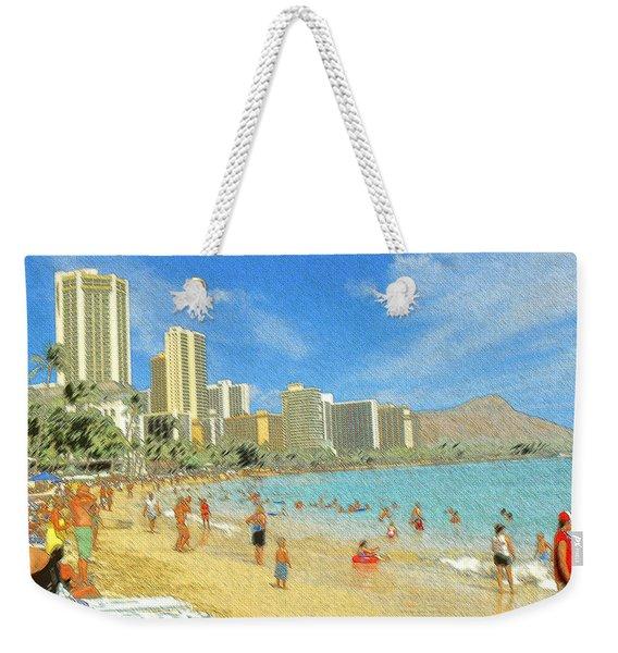 Aloha From Hawaii - Waikiki Beach Honolulu Weekender Tote Bag