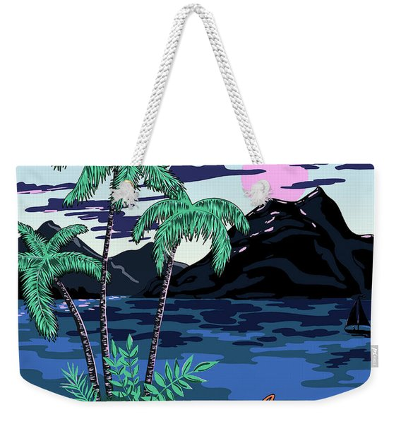 Aloha Hawaii, Pacific Paradise Weekender Tote Bag