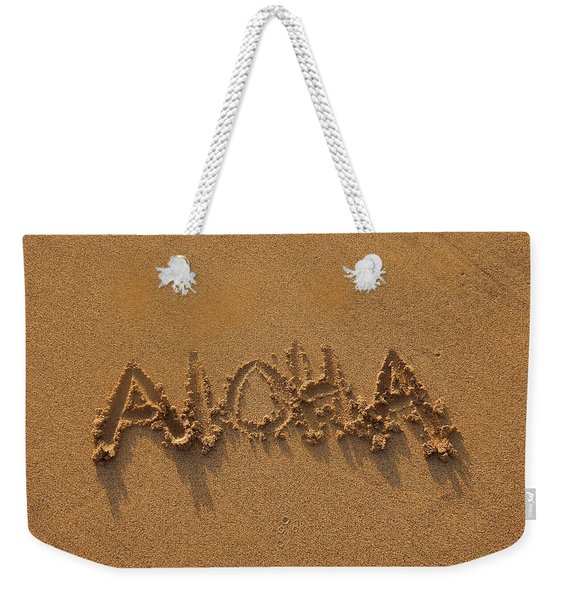 Aloha In The Sand Weekender Tote Bag