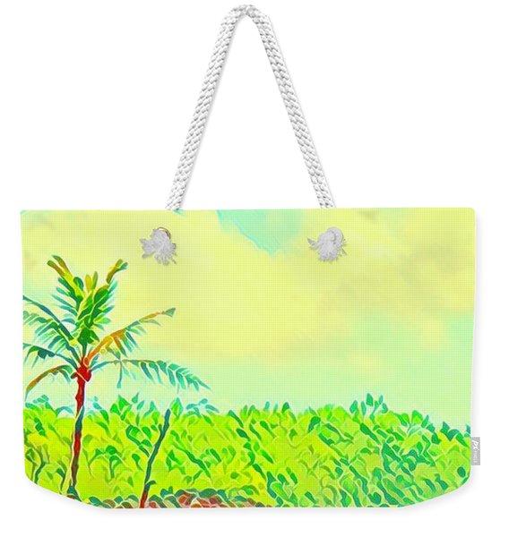 Aloha Lava Aina Hawaii Sky Weekender Tote Bag