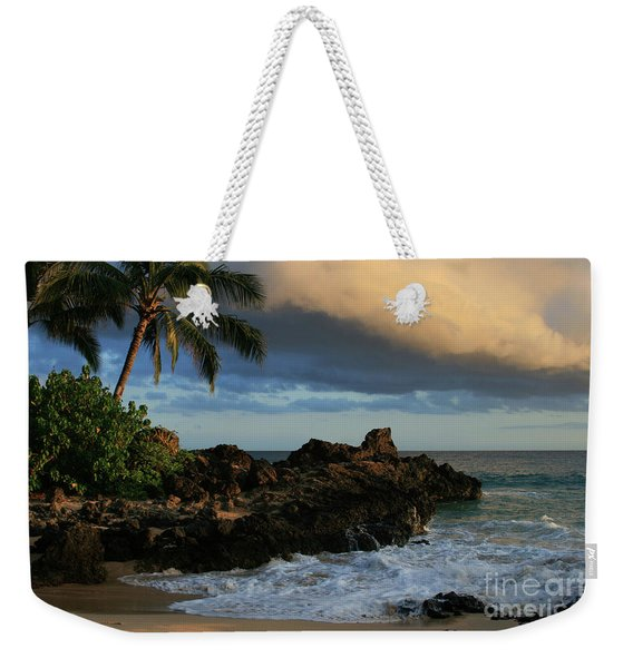 Aloha Naau Sunset Paako Beach Honuaula Makena Maui Hawaii Weekender Tote Bag