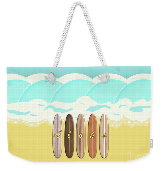 Aloha Surf Wave Beach Weekender Tote Bag