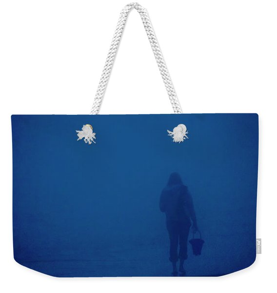 Weekender Tote Bag featuring the photograph Alone By The Sea by Mary Lee Dereske