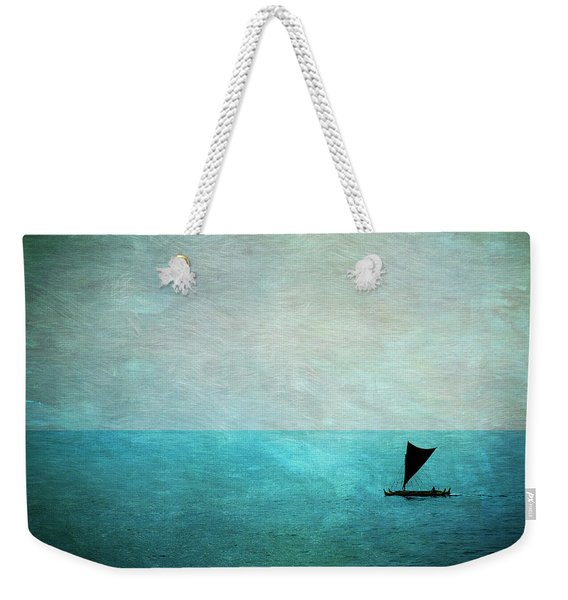 Weekender Tote Bag featuring the photograph Alone by Mary Lee Dereske